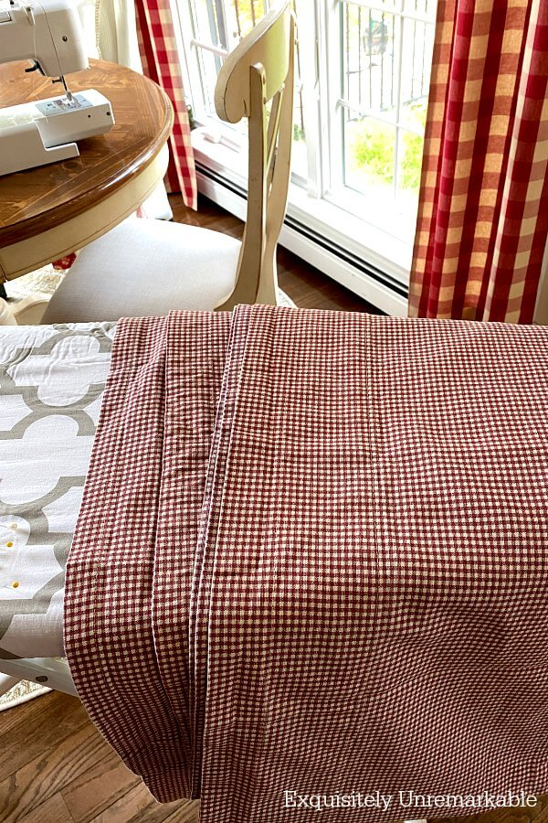 Red Gingham Curtains Panels