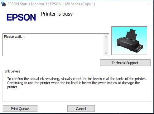Cara Mengatasi All Printer Epson L Series  Error Printer is Busy