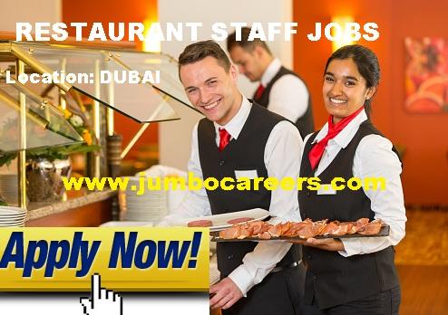 Dubai restaurant jobs salary, food service jobs in Dubai