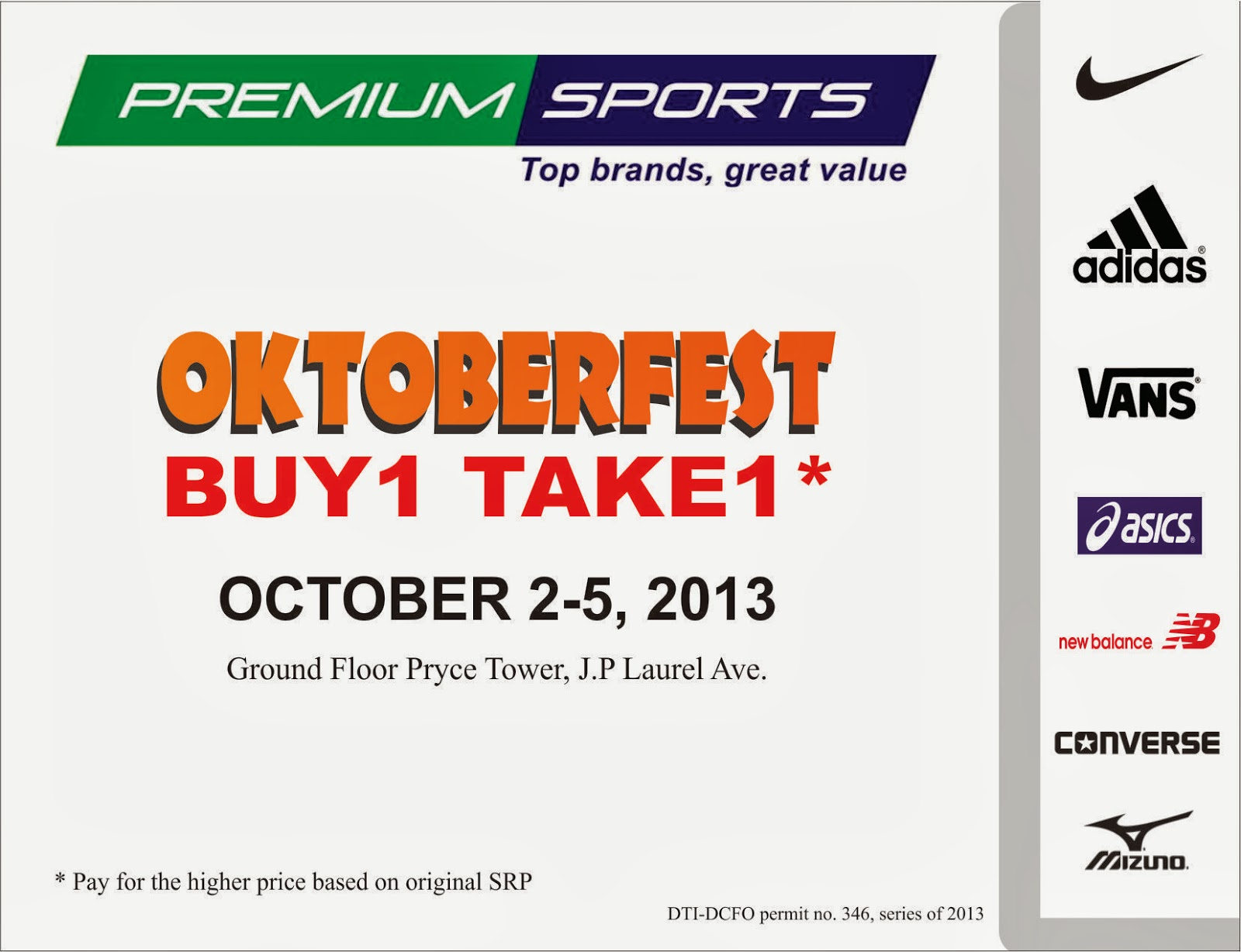d i g g davao premium sports oktoberfest buy 1 take 1 october 2 5 2013 d i g g davao blogger