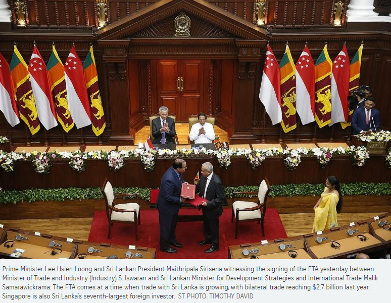 If Only Singaporeans Stopped To Think Singapore And Sri Lanka Sign