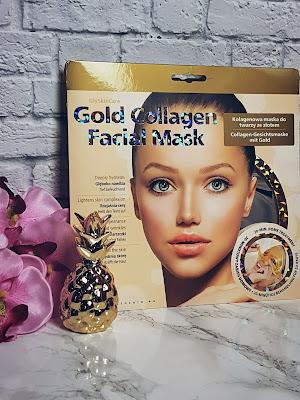 Kolagenowa maska na twarz ze złotem