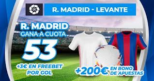 Paston Triple bono bienvenida Real Madrid gana Levante 30-1-2021