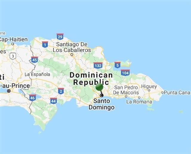 pin point map santo domingo dominican republic