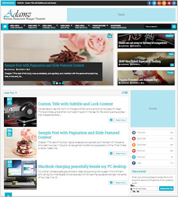 Adamz Adsense Responsive Blogger Templates Without Footer Credit
