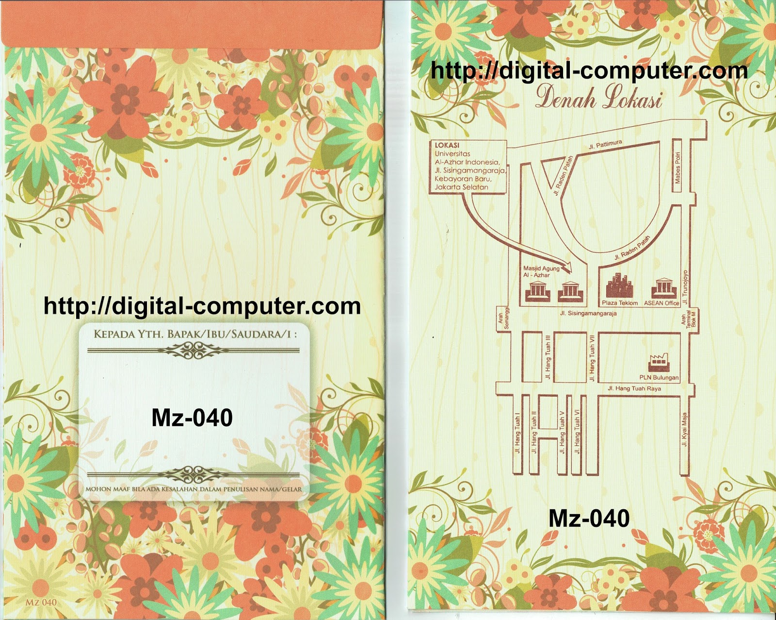 Undangan Softcover Mz-040