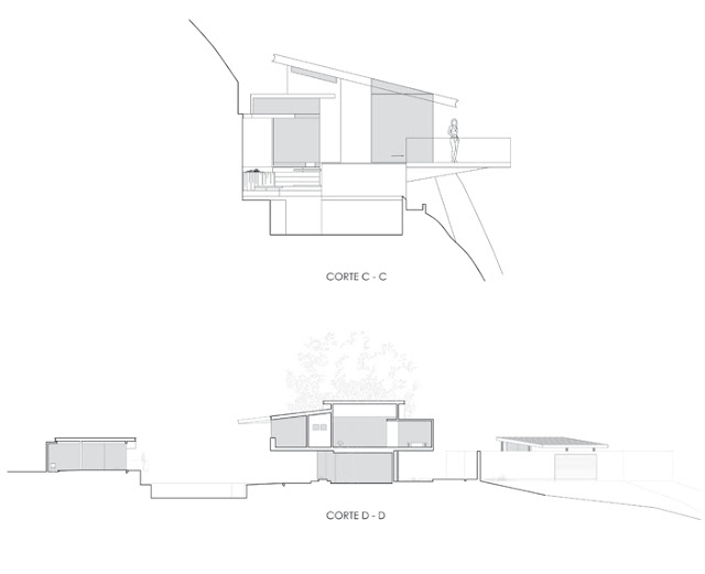 Sections C-C and D-D of the house