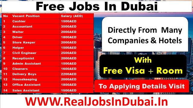 Jobs In Dubai For Indians & All Nationalities