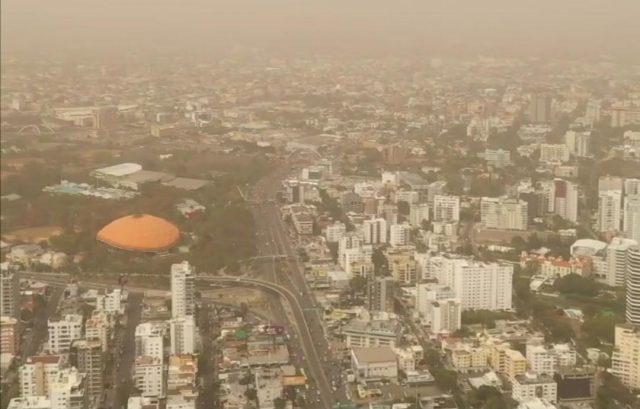 La primera nube de polvo del Sahara llegó a República Dominicana tornando el firmamento brumoso y el ambiente muy caluroso