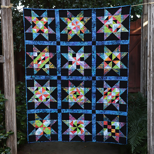 Peek Into Batiks Quilt Along designed by Teresa DownUnder from MyPatchwork Blog