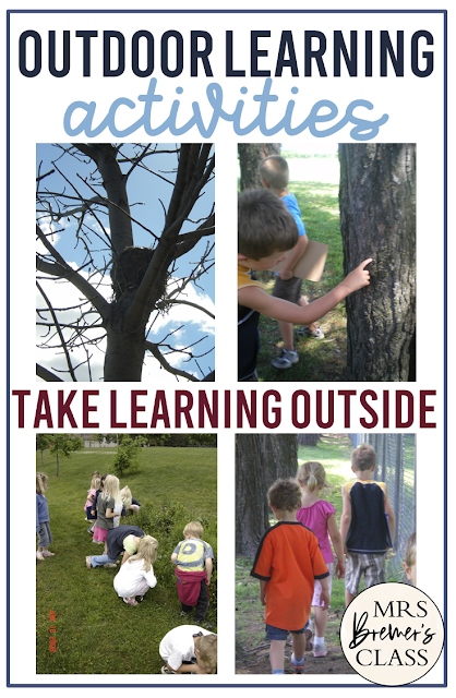 FREE Outdoor Learning scavenger hunts downloads for all seasons for Kindergarten and First Grade