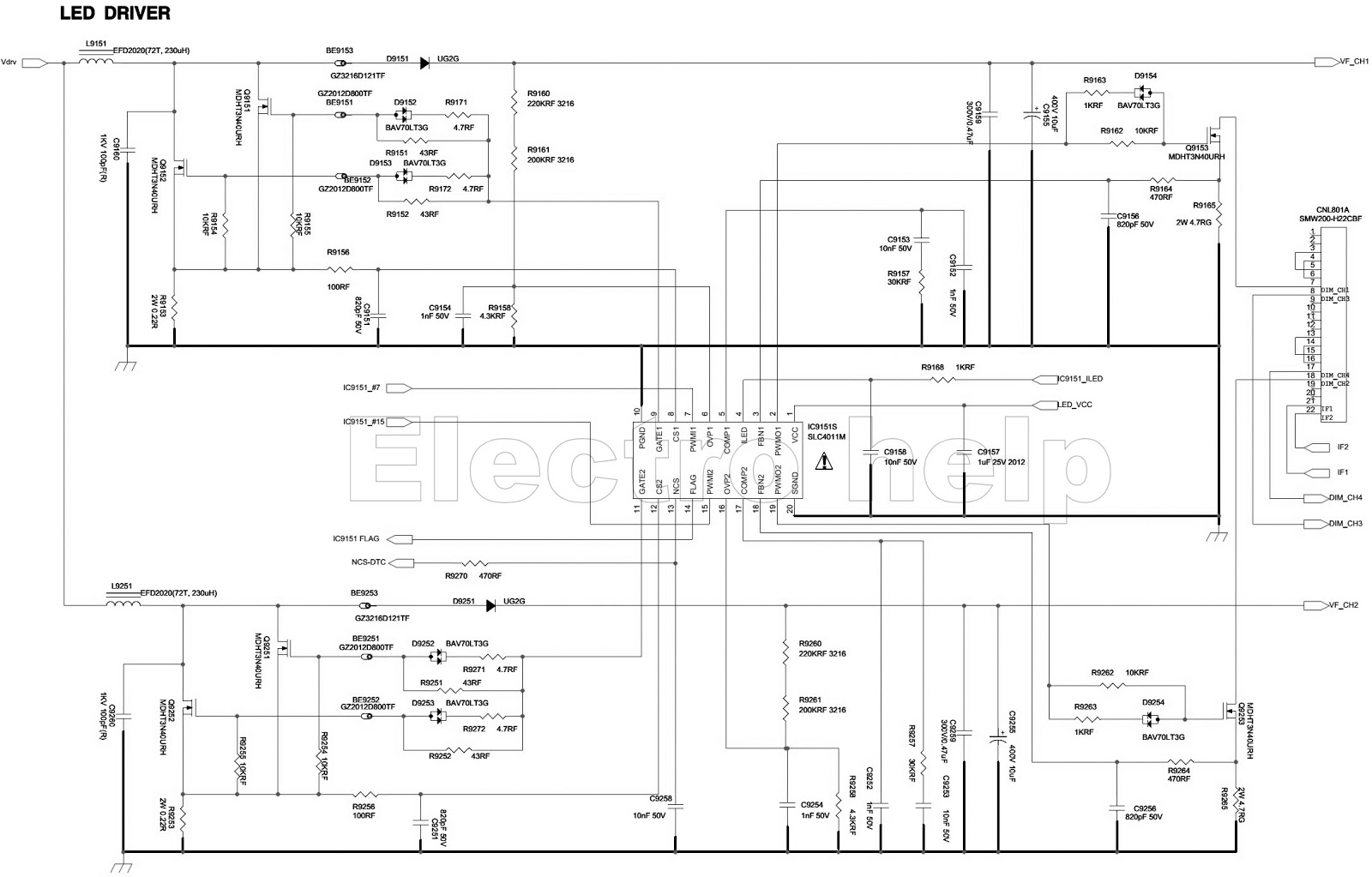 electro help: samsung bn44 00428b – led lcd tv smps circuit diagram - with back-light led driver led circuit diagram samsung