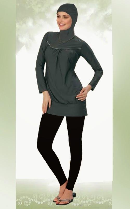 Desain Baju Muslim Renang Wanita Masa Kini