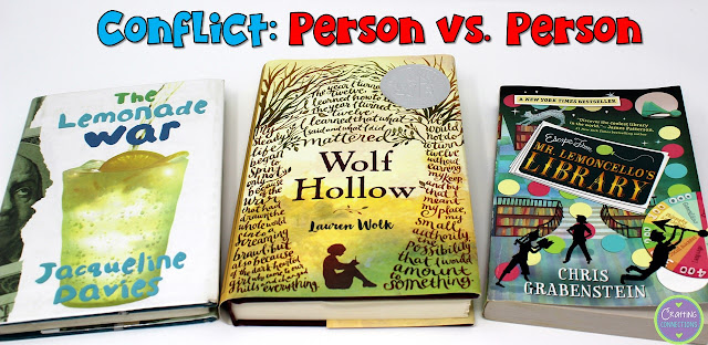 Person vs. Person Book Examples- This blog post contains a conflict anchor chart, as well!