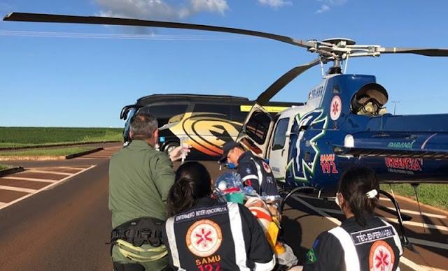 Campina da Lagoa: Jovem fica ferido em acidente na BR-369
