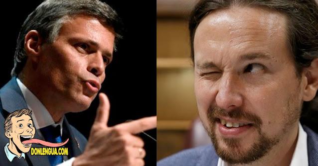 Leopoldo López dispuesto a reunirse con Pablo Iglesias para buscar soluciones para Venezuela