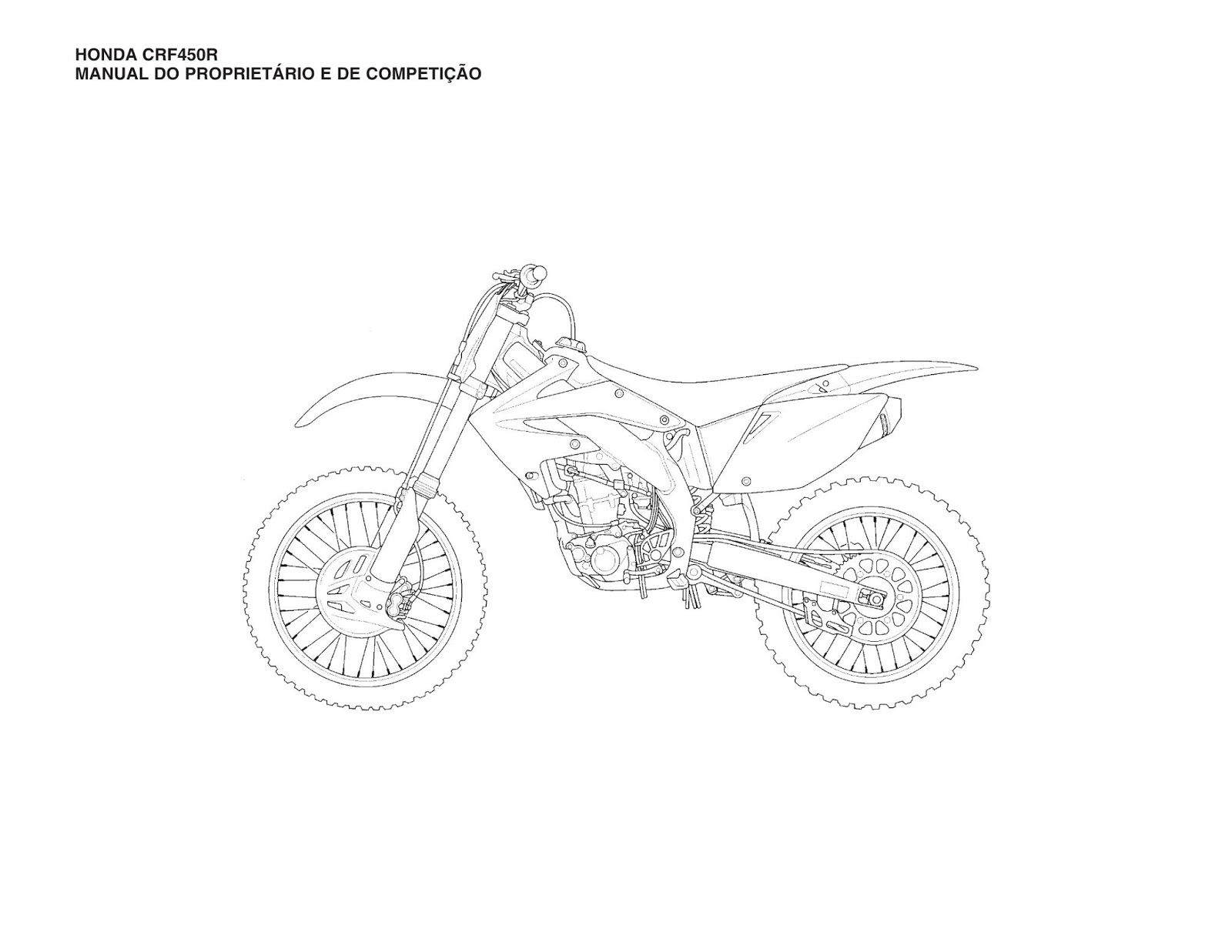 MANUAL DA SUA MOTO: MANUAL DO PROPRIETÁRIO HONDA CRF 450R 2008