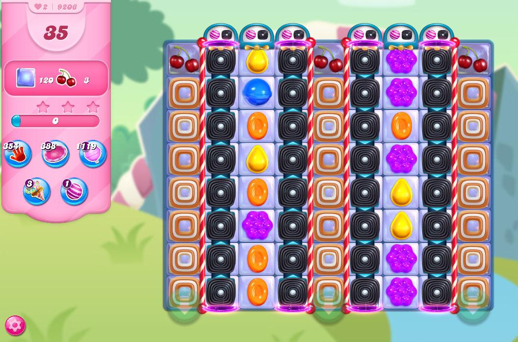 Candy Crush Saga level 9206