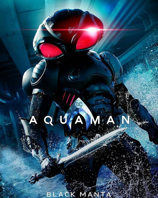black manta Official Poster Film Aquaman