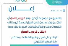 وزارة العمل تعلن فرص عمل جديدة في مختلف التخصصات ليوم الخميس 17 / 9 / 2020