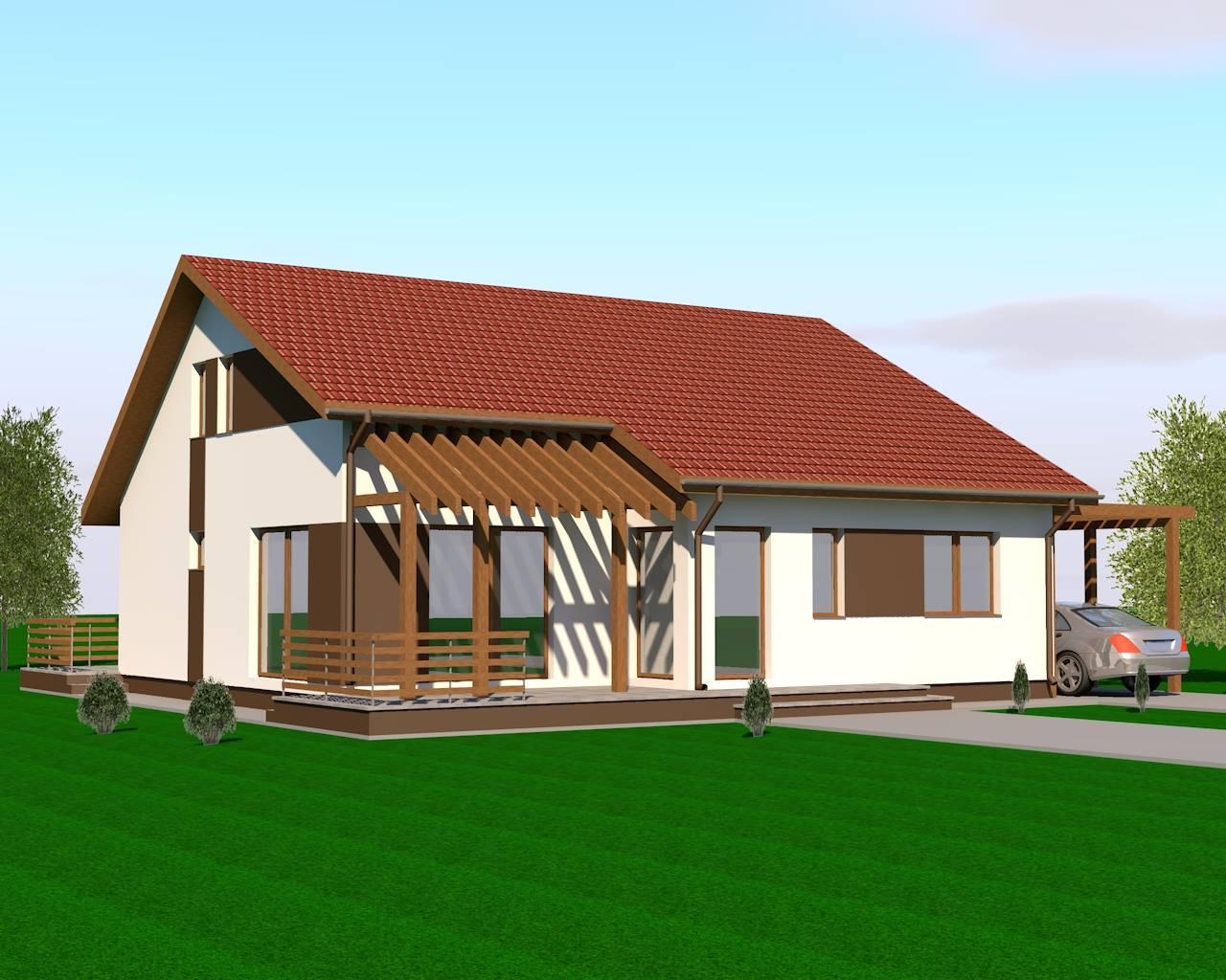 Proiecte case mici casa parter mansardabila for Case parter