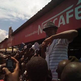 Guinée: Conakry, manifestation contre la hausse du prix du carburant à la pompe par les Forces Sociales de Guinée 1