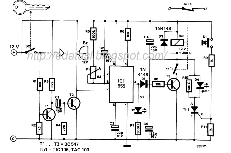 best automatic car alarm circuit diagram