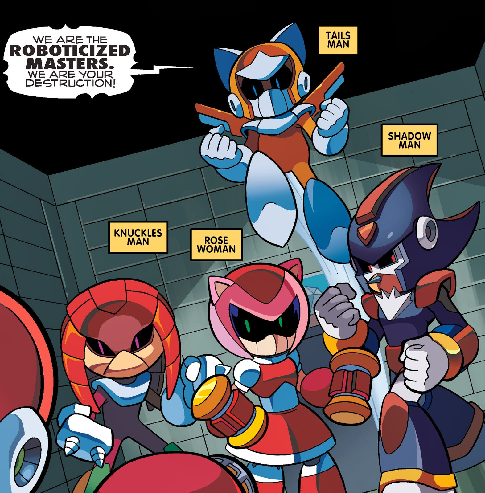 sonic the hedgehog comic character checklist roboticized masters