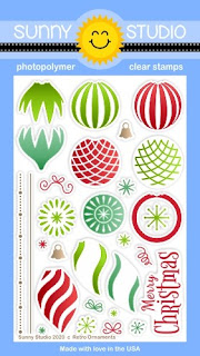 Sunny Studio Stamps Retro Ornaments 4x6 Clear Photopolymer Stamp Set