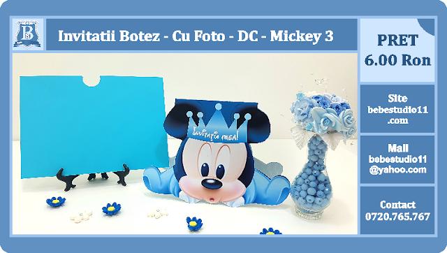 invitatii botez contur Mickey Mouse 3