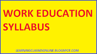 work education b.ed syllabus and curriculum free pdf download