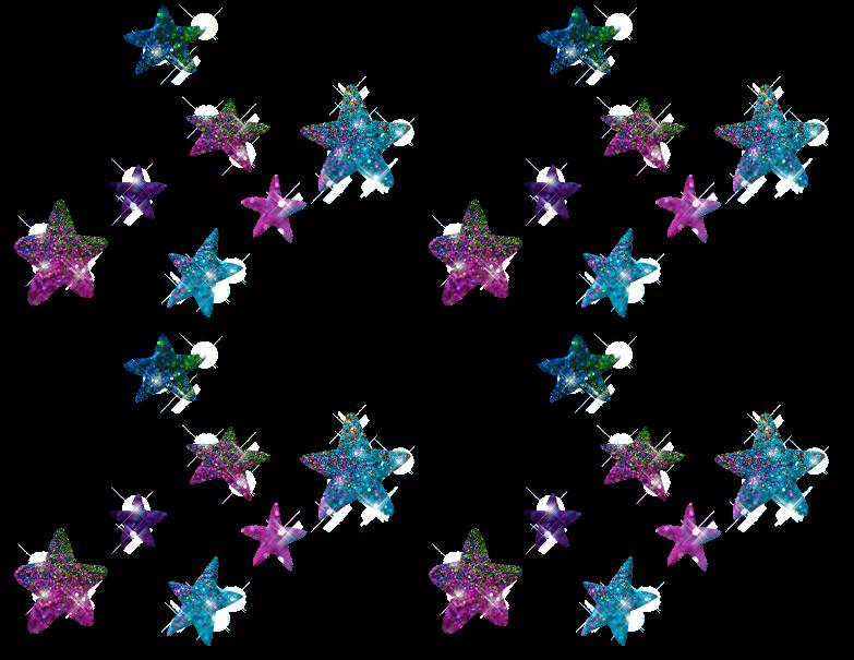 24 Estrellas Navideñas Con Glitter