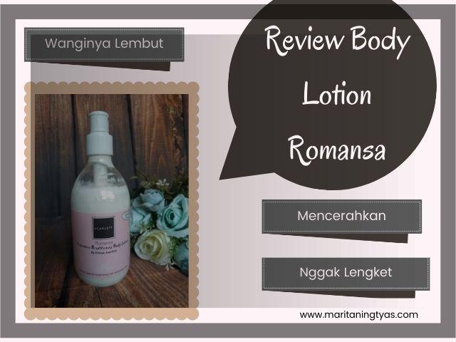 review scarlett whitening body lotion romansa