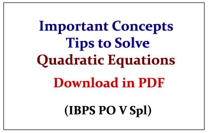 Quadratic Equations Pdf