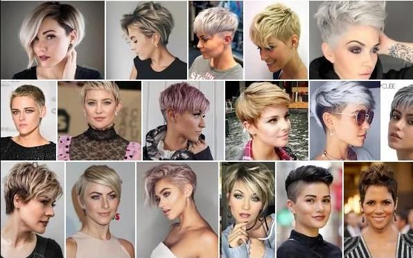 snygga korta frisyrer kvinnor