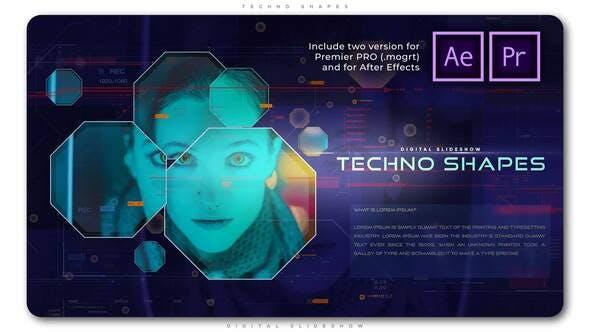 Techno Shapes Digital Slideshow[Videohive][Premiere Pro][28805782]