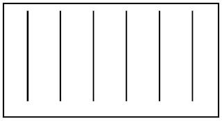 Pola gelombang datar di permukaan air