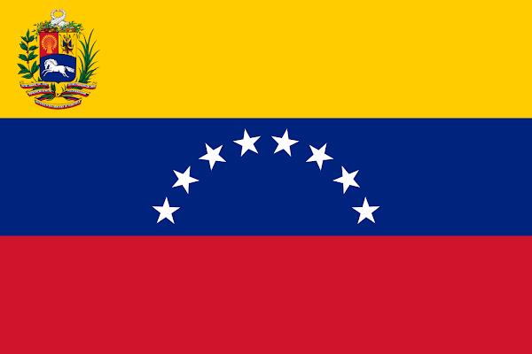 Logo Gambar Bendera Negara Venezuela PNG JPG ukuran 600 px