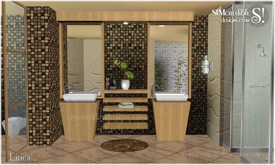 My Sims 3 Blog Linea Bathroom Set By Simcredible Designs