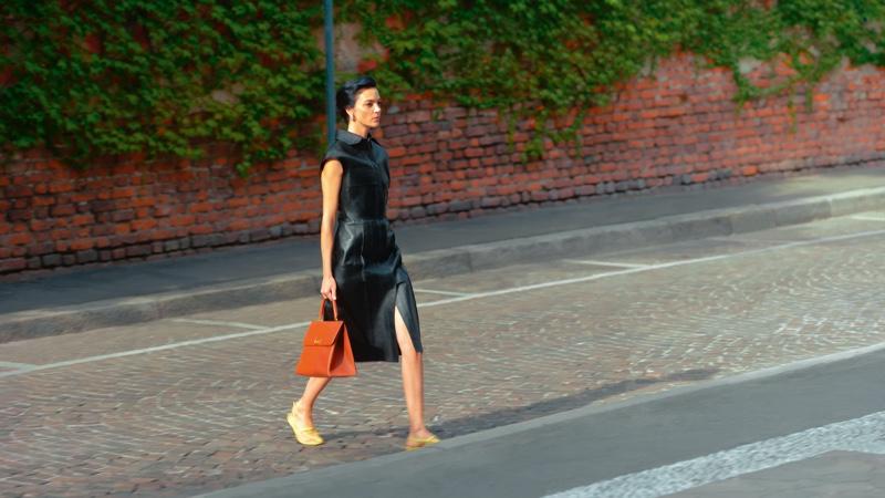 Mariacarla Boscono appears in Salvatore Ferragamo spring-summer 2021 campaign.