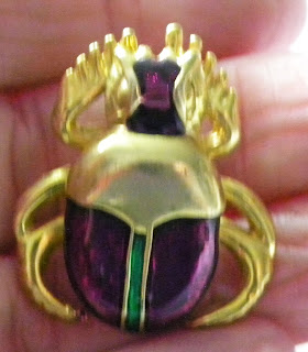 Enamel scarab brooch