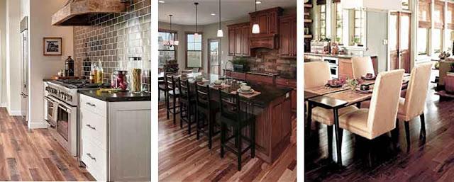 lantai kayu dapur