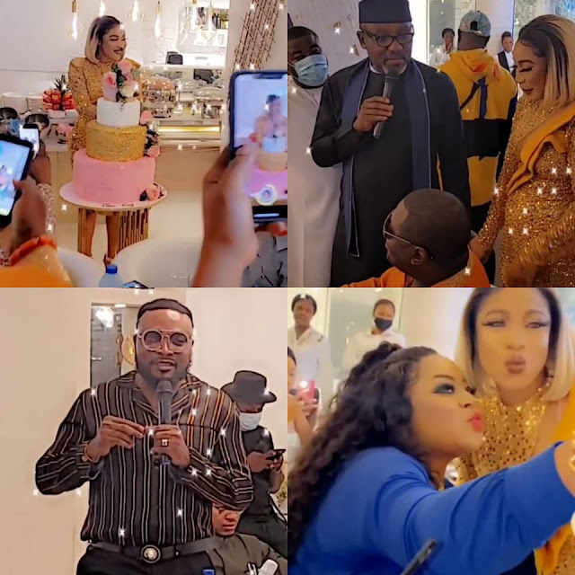 Check out the Photos and Videos from Tonto Dikeh's birthday dinner