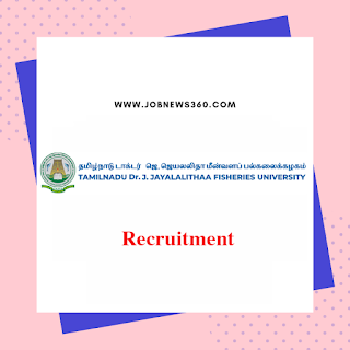 TNJFU Thanjavur Walk-IN 12th Nov 2019 for Project Assistant & Lab Assistant