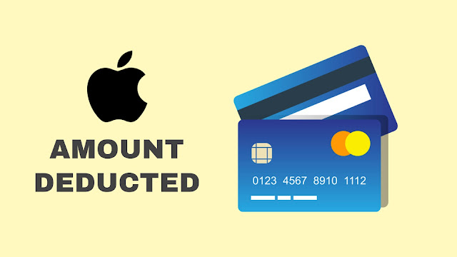 Amount deducted after adding payment method on iPhone