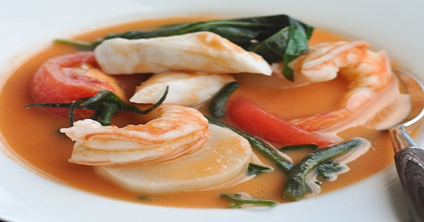 Sinigang Na Bayabas (Seafood In Guava Sour Soup)  Recipe