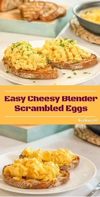 Easy Cheesy Blender Scrambled Eggs #cheese