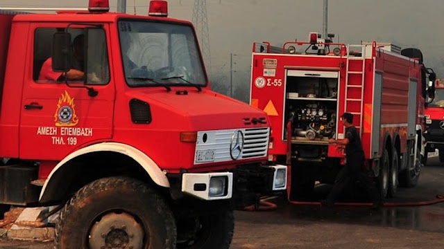 Ανατροπή πυροσβεστικού οχήματος - Τραυματίες δυο πυροσβέστες