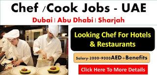 Cook/ Chef Jobs Recruitment in Aviation Industry Abu Dhabi, UAE