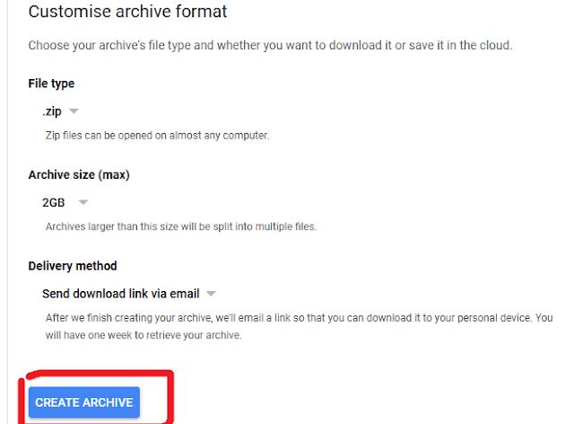 6. Create archive